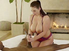 Angel Receives An Interracial Dick From Busty Babe