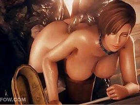 Anna-Mari gets double fucked by fake slave in Locker Room